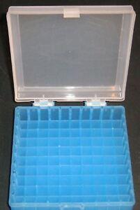 Storage-box-100-centrifuge-cryotubes-vials-cryogenic-tube-freezer-10x10-New