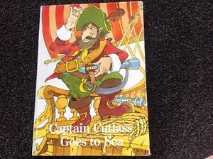 Captain-Cutlass-Goes-to-Sea-vintage-illustrated-Children-039-s-hardcover-RARE