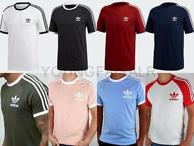 Adidas Originals Herren California Retro Essentials Rundhalsausschnitt Tshirt kurzarm | eBay