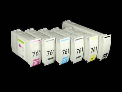 Cyan Yellow 4PK LD Remanufactured HP 728 Ink Cartridges: Matte Black Magenta
