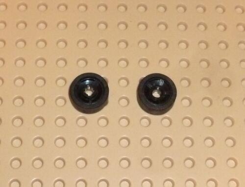 x 6mm with 5 Spokes w// Black Tyre 50944c01 TW65 LEGO Wheel 11mm D BLACK x2