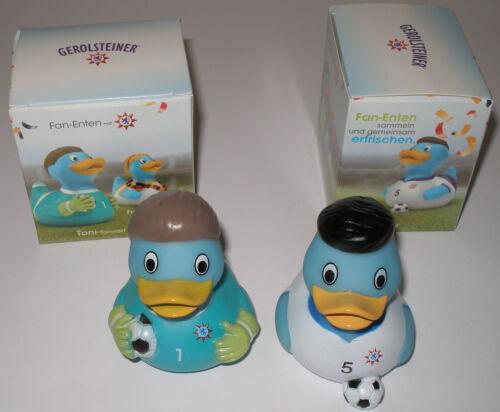 2 unterschiedliche Gerolsteiner Fan Enten ( Badeenten ) Neu und OVP