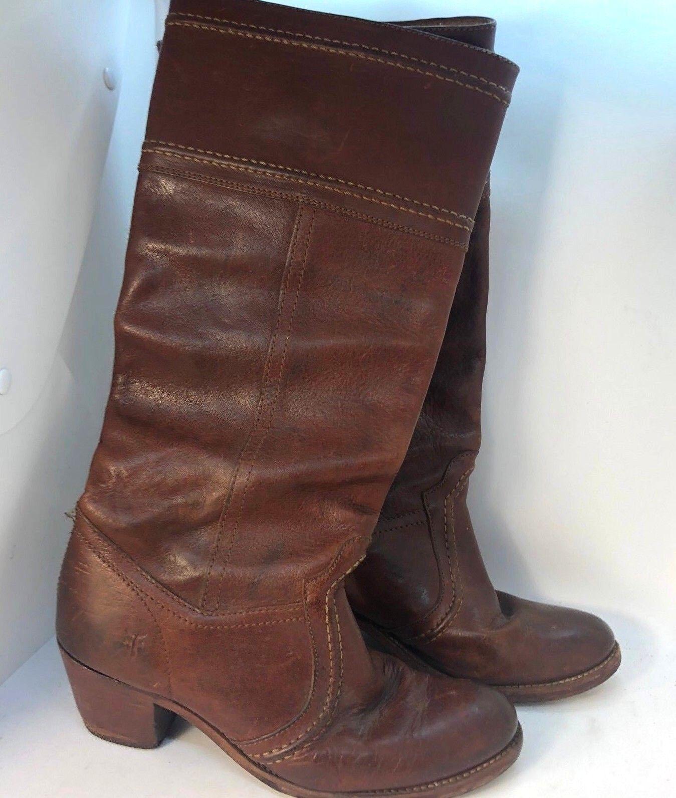 Frye Carmen Harness Tall Boots Extended Sz 7 Womens  348