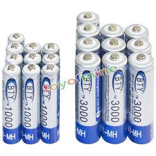 10 AA 3000mAh + 10 AAA 1000mAh battery Bulk Nickel Hydride Rechargeable 1.2V BTY