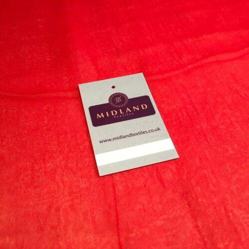 Léger Moss crêpe mousseline transparent tissu semi-transparent tissu 110 cm MA1335