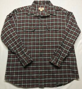5267-WOOLRICH-Mens-XLarge-Button-Up-Down-Shirt-Plaid-Checks-Flannel-Long-Sleeve
