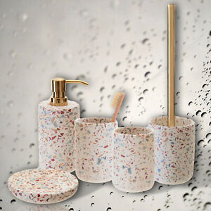 Speckled Bathroom Accessories Set