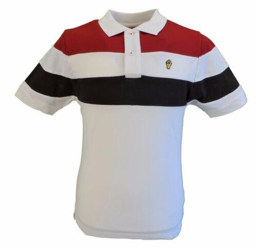 Wigan CASINO ECRU Cut /& Sew Stripe polo in piqué Camicie
