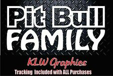PIT BULL Family * Sticker Car Window Decal Rescue Breed Bully Adopt Love Dog