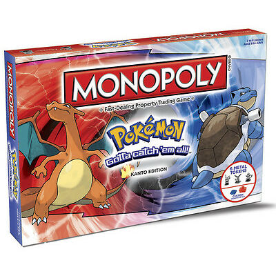 NEW HASBRO MONOPOLY POKEMON: KANTO EDITION BOARD GAME 155757-2