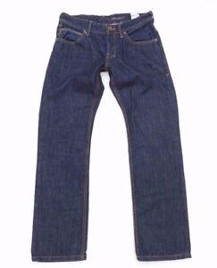 Men-039-s-Vintage-Tom-Tailor-Slim-Bottone-Dritto-INDIGO-BLUE-JEANS-taglia-W30-L30