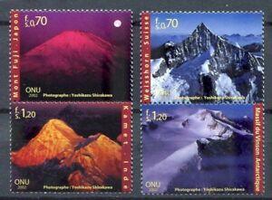 19699) United Nations (Geneve) 2002 MNH Mountains 4v