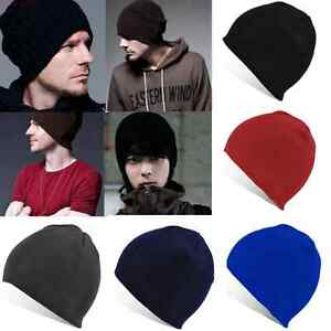ac86d7b2c5e Unisex Men Women Hip-Hop Warm Winter Wool Knitted Ski Beanie Cuff ...