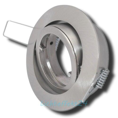 PAR16 LED Halogen SMD Einbaurahmen Einbaufassung für Gu10 Leuchtmittel 50mm