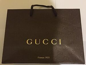 8463118b5f0 Image is loading Authentic-Gucci-Brown-Gift-Paper-Bag