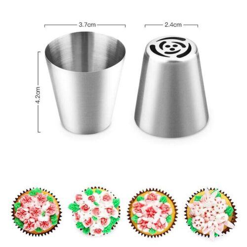 Russian Piping Tips 27pcs Baking Supplies Set Cake Decorating Tips for Cupcake