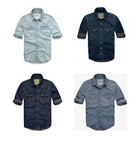 Mens Hollister Muscle Fit Denim Fashion Shirt By Abercrombie