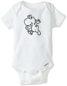 Super Mario Brothers Mushroom Custom Gerber Onesie infant-toddler Free Shipping
