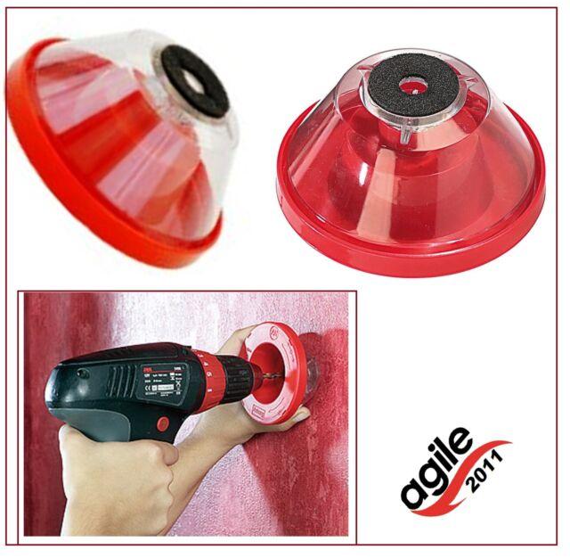 Bohrstaubfänger, Staubschutz beim Bohren, Bohrstaubschutz für 4 bis 10 mm Bohrer