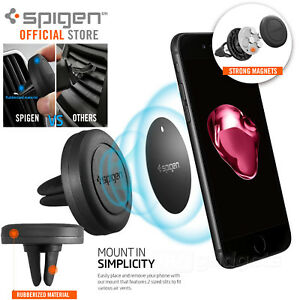 Car Mount Phone Holder Dock, Genuine Spigen Air Vent Magnetic for iPhone/ Galaxy