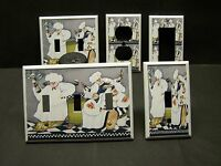 Fat Chef Wine & Bread Kitchen Decor Light Switch Or Outlet Cover V529