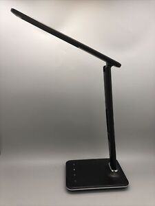 OttLite LED Desk Lamp with 2.1A USB Charging Port and LCD Screen,Date,Time,Tempr