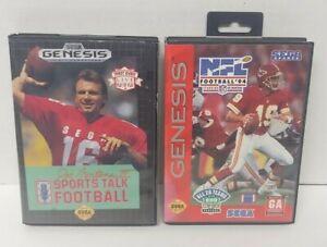 NFL Football 94 + Joe Montana III Sega Genesis Working + Tested - 2 Game Lot