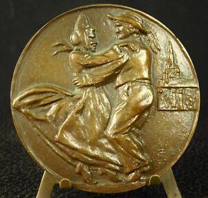 Medaille-Musique-amp-Danse-Bretonne-Bretagne-Breizh-Bombarde-Biniou-koz-Cornemuse