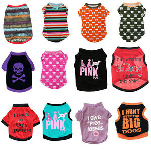 504516c47 Small Dog Pet Puppy Cat T Shirt Clothes Vest Apparel Chihuahua Teddy ...
