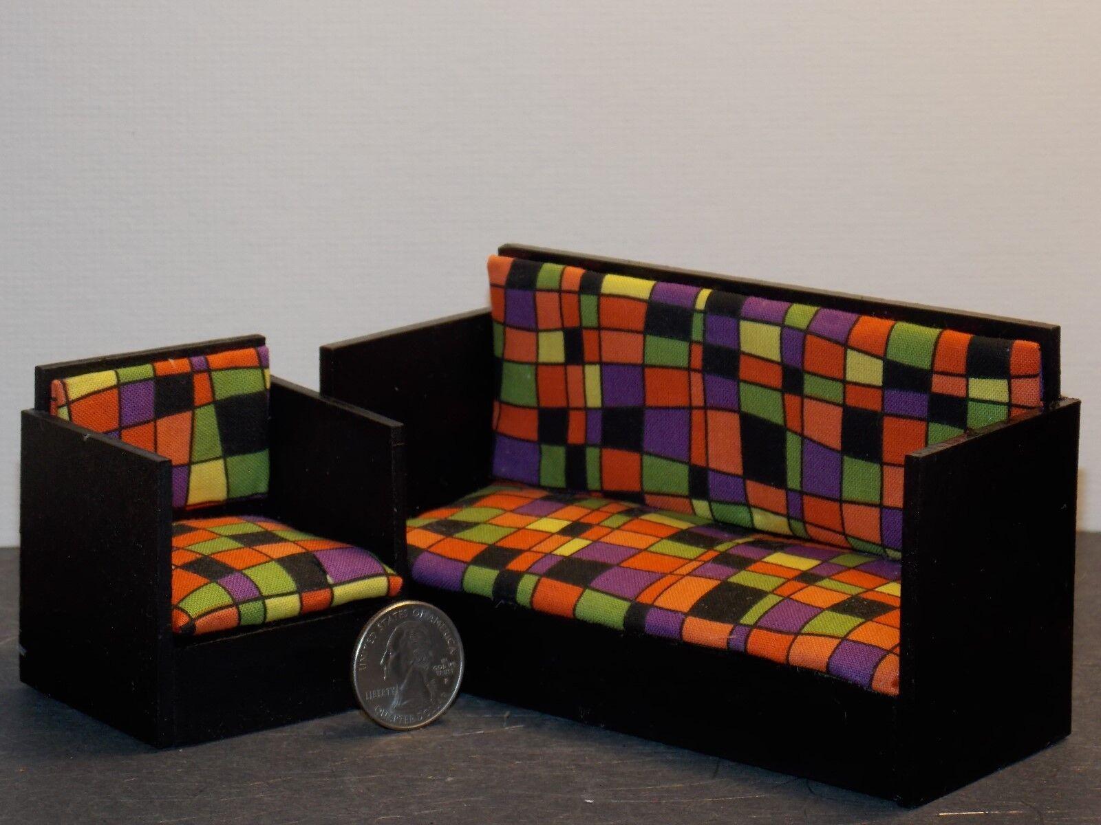 Casa de muñecas en miniatura sillón salón conjunto 1 12 escala E30 dollys Galería