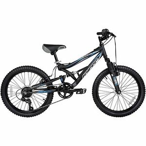 Shocker-20-034-Wheel-Boys-Mountain-Bike-Dual-Full-Suspension-7-Speed-Black-Age-7