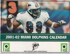 2001 2002 MIAMI DOLPHINS COLOR WALL CALENDAR PUBLIX JASON TAYLOR ZACH THOMAS