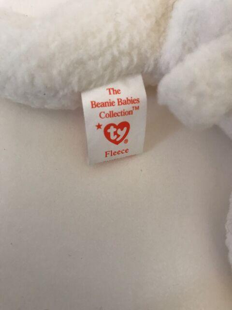 Ty Beanie Baby Fleece Lamb Beanbag Plush Original Tag 1996 PE 4th Gen 4125 for sale online