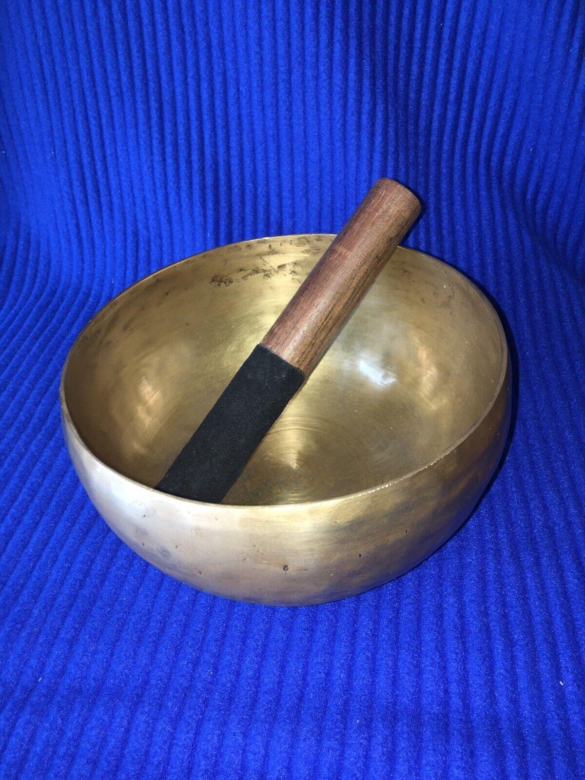 Gehämmerte klangschale Singing Bowl Nepal 650gram mit Klöppel(Gs)