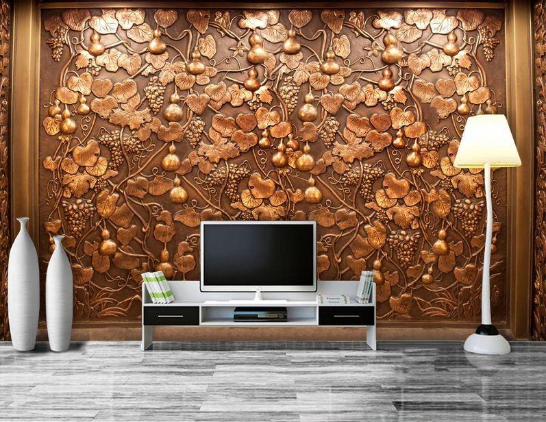 3D Grape Vines Small Cucurbits 32 Wall Paper Wall Print Decal Wall AJ Wall Paper