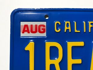 Details about California License Plate Month Registration Sticker, AUG,  August, CA, DMV