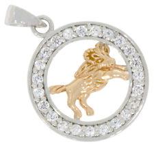 Sternzeichen Löwe Anhänger Halskette 925 Silber Tierkreiszeichen A1St-7