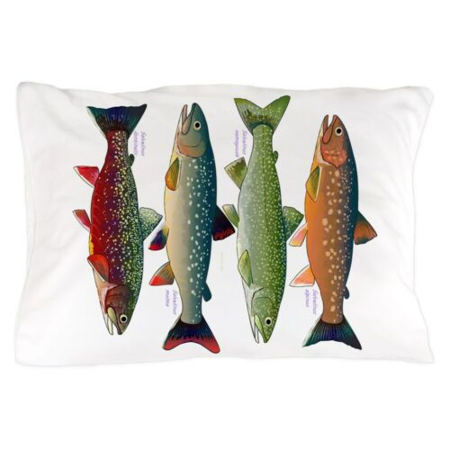 "CafePress 4 Char Fish Standard Size Pillow Case 1436844486 20/""x30/"""