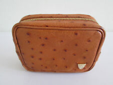 """*WOW* ASPINAL OSTRICH PRINT FINE LEATHER SMALL BROWN TRAVEL PURSE 5""""x3.25"""" x1.5"""""""
