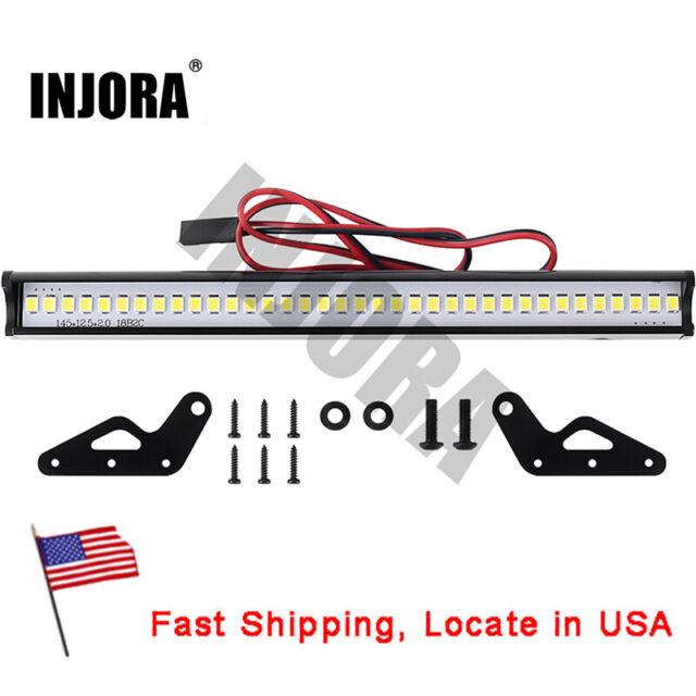 1//10 LED Spotlight Car Roof Lamp Bar for TRAXXAS TRX4 90046 SCX10 RC Crawler Car