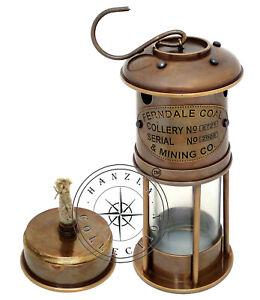 "Antique Brass 7/"" Minor Oil Lamp Nautical Maritime Lantern Light Best Gift Item"