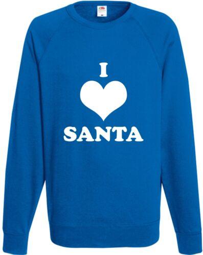 I Love Santa Funny Sweatshirt Xmas Gift Joke Christmas Jumper Comedy Present