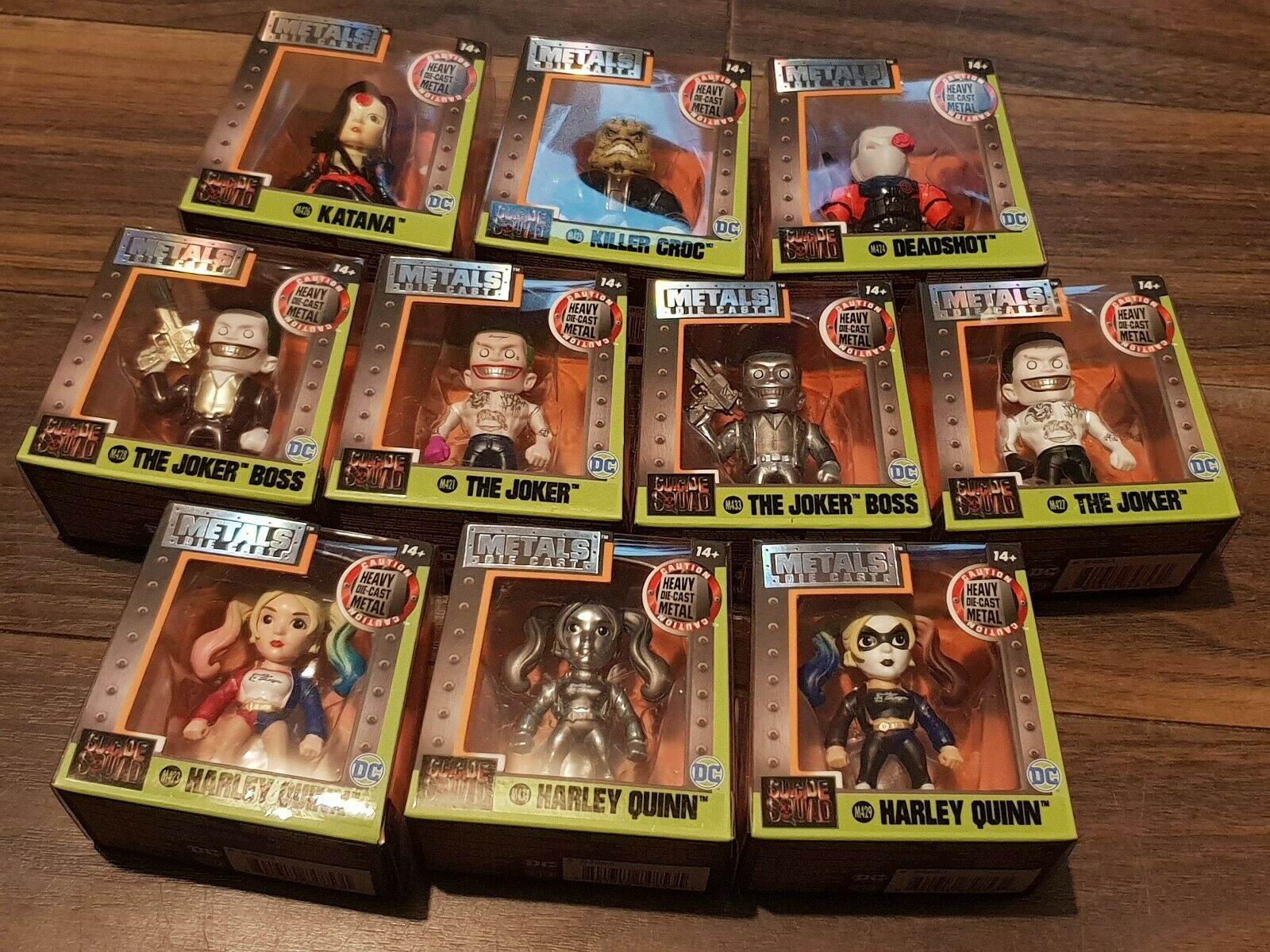 Suicide squad figures Metal Figs Harley quinn The Joker Deadshot 10ps collection