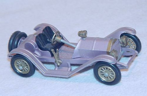 Matchbox Models of Yesteryear 1913 MERCER RACEABOUT purplec Model Car Y-7 NM `61