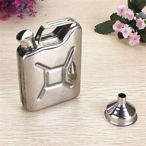 Useful 5oz Stainless Steel Jerry Can Hip Flask LiquorWhisky Pocket Bottle Nice