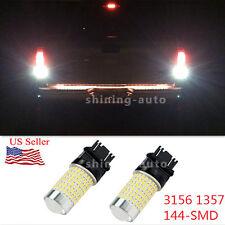 2X 144-SMD Back-Up Reverse LED Lights White Bulb for Ford Five Hundred Mustang