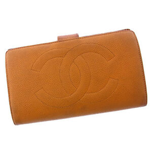 Image Is Loading Chanel Wallet Purse Long Coco Beige Gold