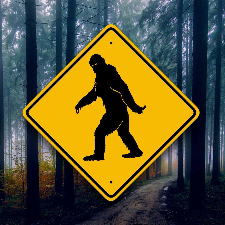 Bigfoot Crossing Road Sign - Aluminum Placard - Sasquatch Sighting - Yeti Art