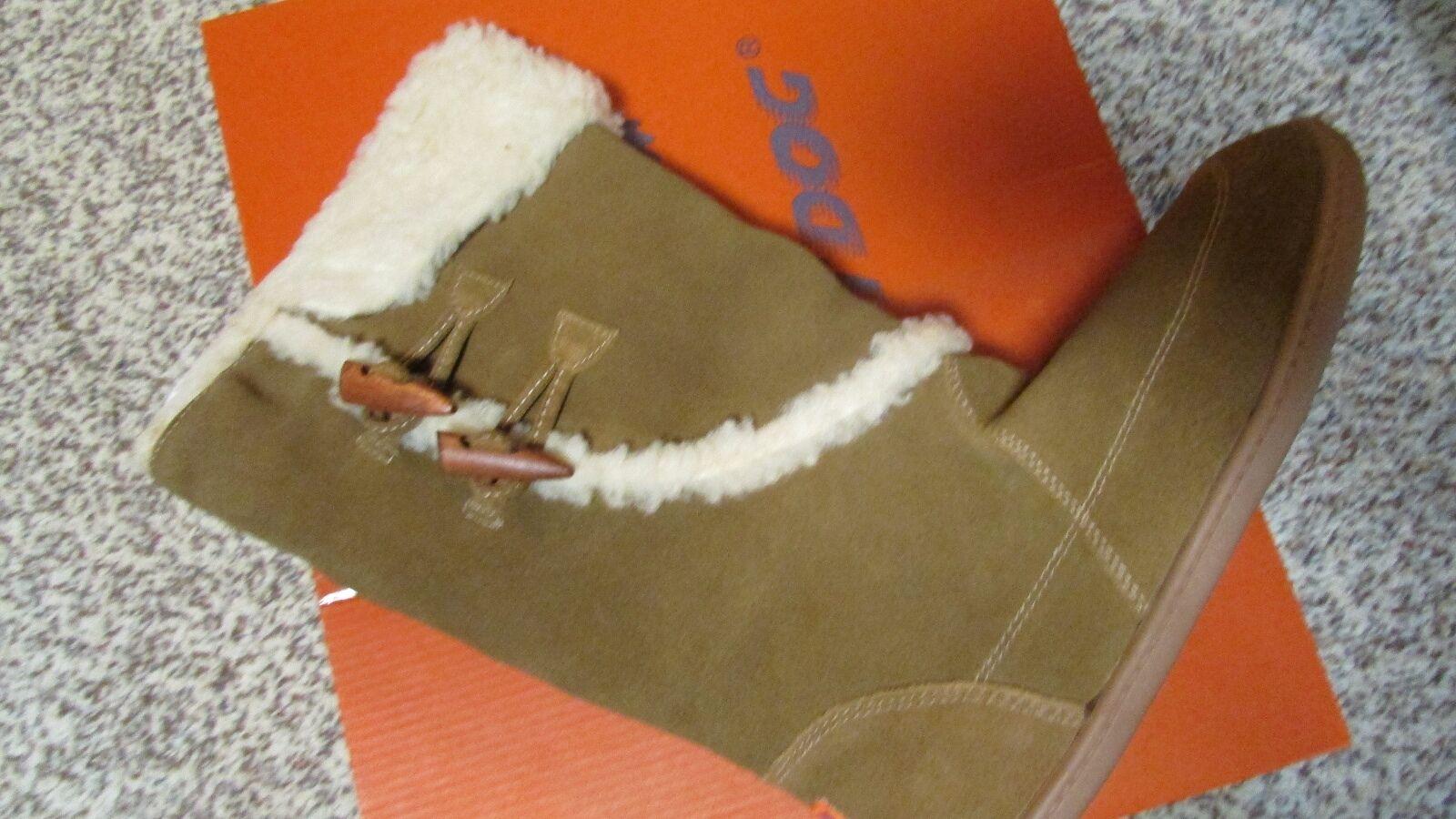 NEW ROCKET DOG LEGION SUEDE BOOTS Damenschuhe 8 BROWN LEATHER W/FUR