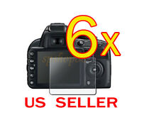 6x Nikon Dslr D3200 Digital Camera Lcd Screen Protector Cover Guard Shield Film
